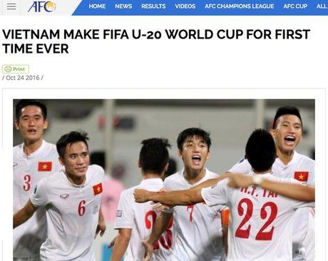 U.19 VN chien thang ky tich du U.20 World Cup, FIFA, AFC chuc mung - Anh 3