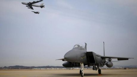 My san sang bo tri B-52 va B-1 o Han Quoc de 'ran de mo rong' Trieu Tien - Anh 1