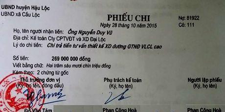 Thanh Hoa: Ky luat Chu tich xa lap ho so khong rut tien ngan sach - Anh 1
