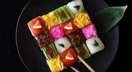 Mosaic sushi - Khi nhung mieng sushi tro thanh kiet tac nghe thuat tren ban an - Anh 11