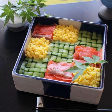 Mosaic sushi - Khi nhung mieng sushi tro thanh kiet tac nghe thuat tren ban an - Anh 12