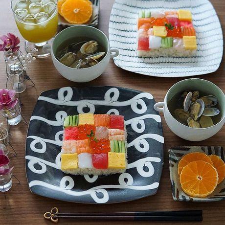 Mosaic sushi - Khi nhung mieng sushi tro thanh kiet tac nghe thuat tren ban an - Anh 14