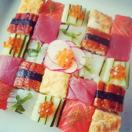 Mosaic sushi - Khi nhung mieng sushi tro thanh kiet tac nghe thuat tren ban an - Anh 15