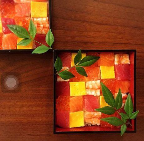 Mosaic sushi - Khi nhung mieng sushi tro thanh kiet tac nghe thuat tren ban an - Anh 16