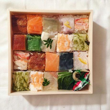 Mosaic sushi - Khi nhung mieng sushi tro thanh kiet tac nghe thuat tren ban an - Anh 17