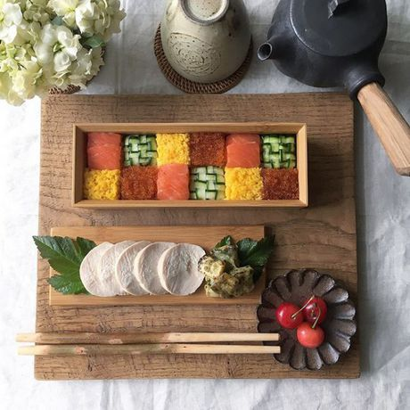 Mosaic sushi - Khi nhung mieng sushi tro thanh kiet tac nghe thuat tren ban an - Anh 3