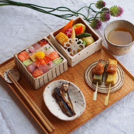 Mosaic sushi - Khi nhung mieng sushi tro thanh kiet tac nghe thuat tren ban an - Anh 4