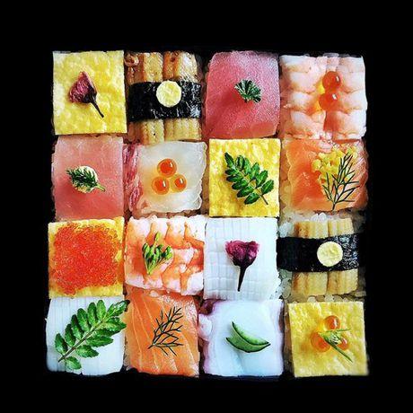 Mosaic sushi - Khi nhung mieng sushi tro thanh kiet tac nghe thuat tren ban an - Anh 5