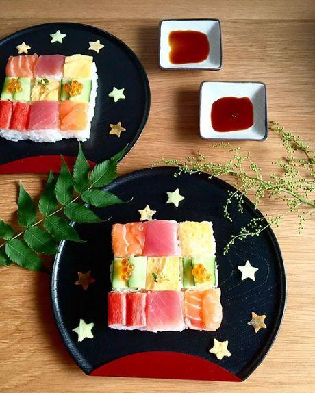 Mosaic sushi - Khi nhung mieng sushi tro thanh kiet tac nghe thuat tren ban an - Anh 6