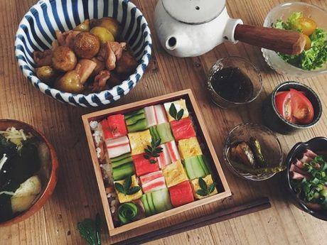 Mosaic sushi - Khi nhung mieng sushi tro thanh kiet tac nghe thuat tren ban an - Anh 8