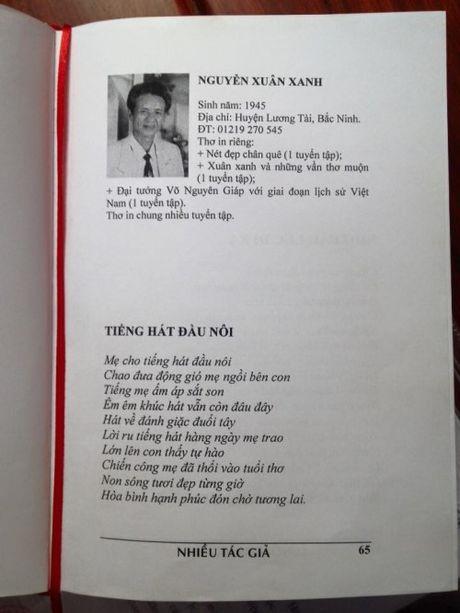 Nguyen Xuan Xanh: Lam tho de tim loi giai cuoc doi - Anh 1