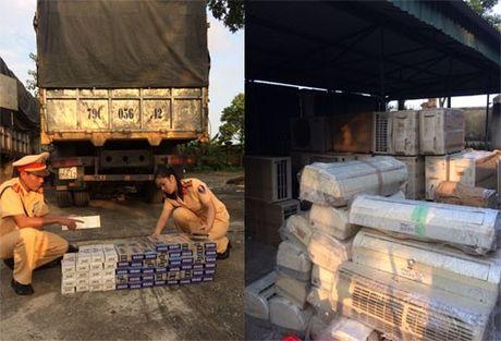 Thanh Hoa: Lien tuc bat giu xe van chuyen hang lau chay qua dia ban - Anh 1