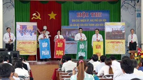 Tien Giang: Hoi thi Ban chu nhiem ap, khu pho van hoa - Anh 1