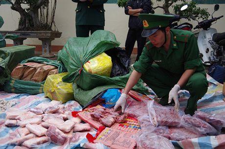 Lao Cai: Thu giu hon 1,3 tan thuc pham dong lanh - Anh 1