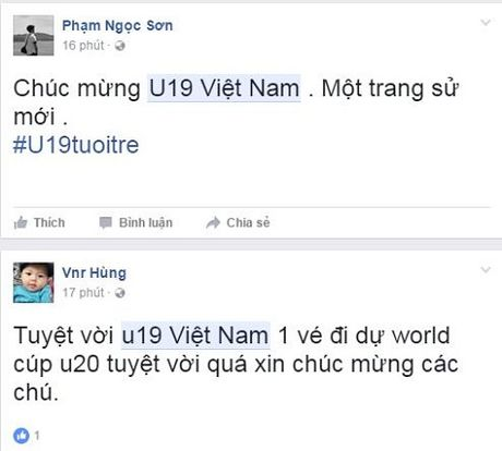 Cong dong mang day song khi U19 Viet Nam gianh ve du World Cup - Anh 1