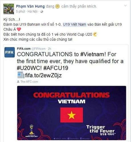 Cong dong mang day song khi U19 Viet Nam gianh ve du World Cup - Anh 2