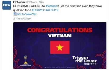 Lan dau gianh quyen tham du U20 World Cup, FIFA chuc mung U19 Viet Nam - Anh 1