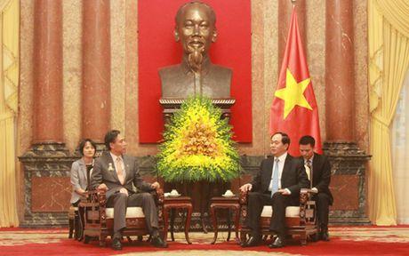 Chu tich nuoc Tran Dai Quang tiep Thong doc tinh Nagano - Nhat Ban - Anh 1
