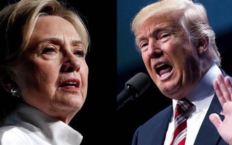 Bau cu My: Ba Clinton noi rong khoang cach voi ong Trump len 12 diem - Anh 1