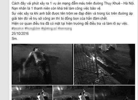HN: Mot bao ve bi dam guc tren duong Thuy Khue - Anh 2