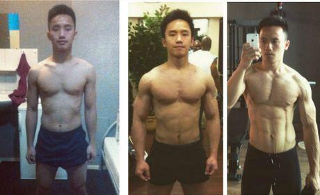 Chang trai gay go hoa 6 mui vam vo sau 3 nam tap gym - Anh 1