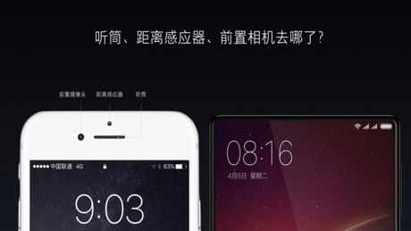 Xiaomi tung ra Mi MIX man hinh 6.4 inch tran 3 canh - Anh 6