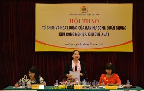 Tong LDLDVN ban giai phap nang cao hoat dong Ban Nu cong - Anh 1