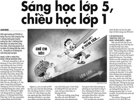 Sang hoc lop 5, chieu hoc lop 1: Can tra hoc sinh ve dung trinh do - Anh 1