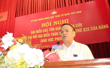 Dai bieu cac ton giao nghien cuu Nghi quyet Dai hoi Dang 12 - Anh 3