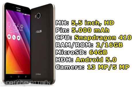 Smartphone pin 5.000 mAh cua Asus giam gia manh - Anh 1