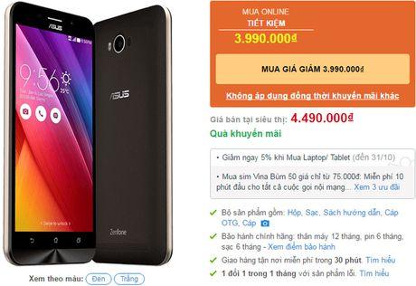 Smartphone pin 5.000 mAh cua Asus giam gia manh - Anh 2