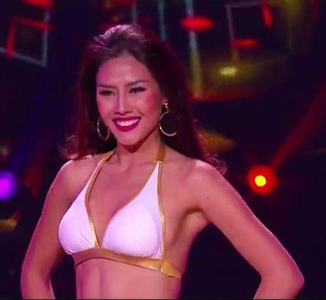 Nguyen Thi Loan khoe hinh the boc lua 'do' 79 Hoa hau - Anh 2