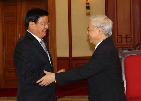 Tong Bi thu Nguyen Phu Trong tiep Thu tuong Lao Thongloun Sisoulith - Anh 1