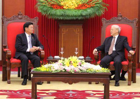 Tong Bi thu Nguyen Phu Trong tiep Thu tuong Lao Thongloun Sisoulith - Anh 2