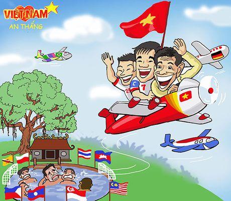 Biem hoa: U19 Viet Nam bo lai 'ao lang' cho Thai Lan - Anh 1