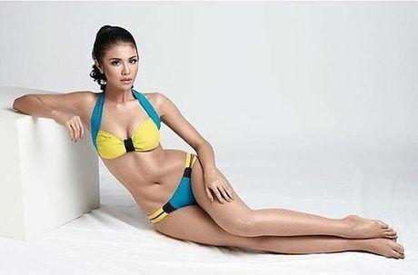 Anh bikini 'bong ruc' cua tan Hoa hau Hoa binh Ariska Putri Pertiwi - Anh 2