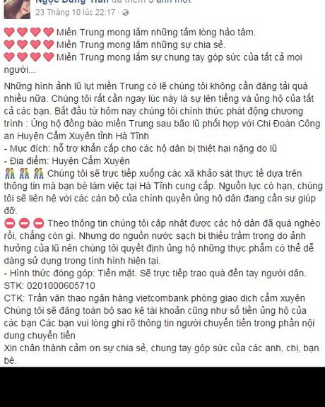 Nu sinh canh sat keu goi toan truong ung ho mien Trung - Anh 2