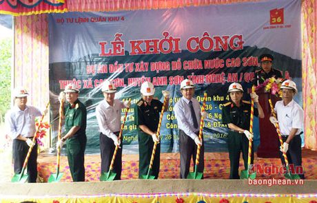 Khoi cong du an ho chua nuoc Cao Son - Anh 1