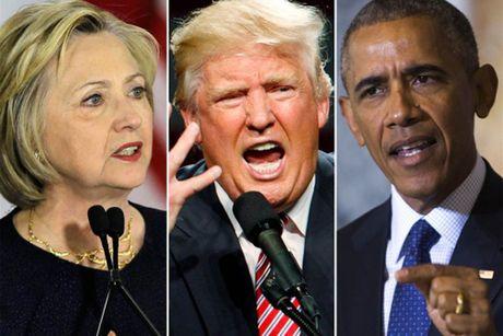 Trump de nghi dieu tra Obama ve hom thu cua ba Clinton - Anh 1