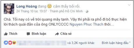 Lou Hoang lam nao loan pho di bo khi chap nhan thu thach 'doc - la' cua thay OnlyC - Anh 2