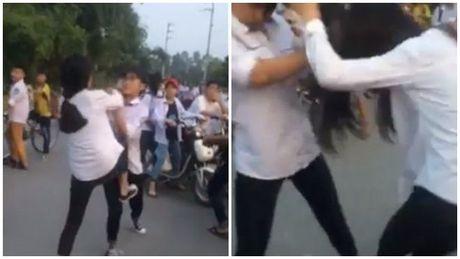 Bac Ninh: Nu sinh cap 2 danh nhau nhu 'phim chuong' vi ghen tuong - Anh 1
