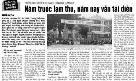 Thanh tra vao cuoc vu lam thu o Truong tieu hoc so 1 Khe Sanh (Quang Tri) - Anh 1