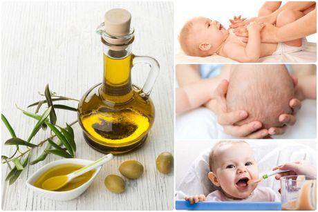 Sai lam khi massage cho tre bang dau olive - Anh 1