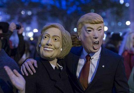 Linh vuc Donald Trump luon dan truoc Hillary - Anh 1