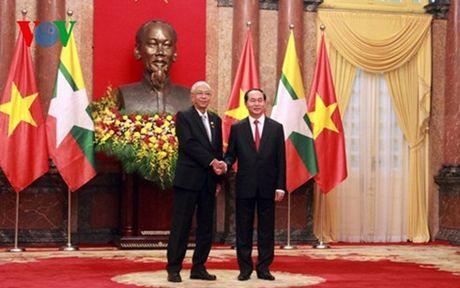 Chu tich nuoc Tran Dai Quang hoi dam voi Tong thong Myanmar - Anh 3