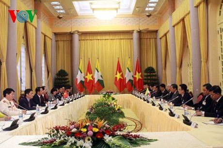 Chu tich nuoc Tran Dai Quang hoi dam voi Tong thong Myanmar - Anh 4