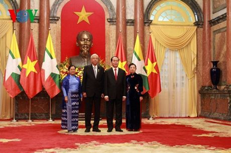 Chu tich nuoc Tran Dai Quang chieu dai Tong thong Myanmar Htin Kyaw - Anh 1