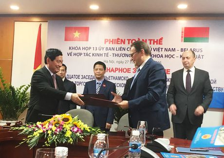 No luc dua kim ngach thuong mai Viet Nam-Belarus len 500 trieu USD - Anh 1