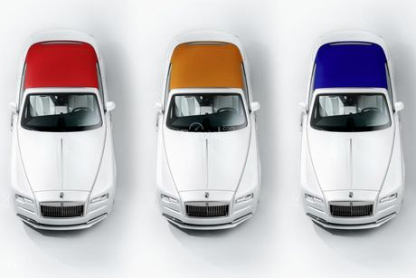 Rolls-Royce ra mat bo 3 xe sieu sang Dawn ban dac biet - Anh 1