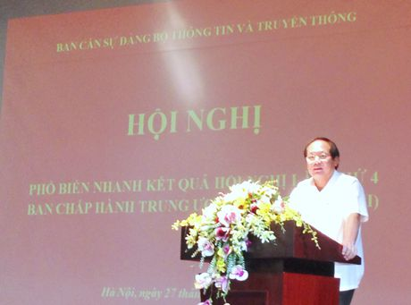 Bo TT&TT pho bien nhanh ket qua Hoi nghi lan 4 BCH Trung uong Dang khoa XII - Anh 1